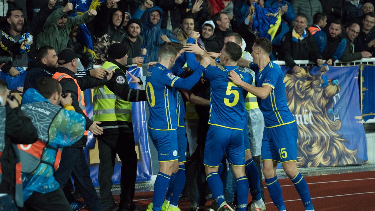 """Kosova bën histori, kalon në """"play-off"""" për Euro 2020 dhe promovohet në Ligën C"""