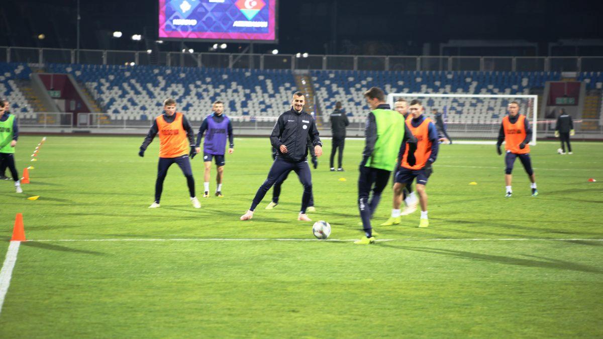 Kombëtarja mbajti stërvitjen e fundit para duelit vendimtar me Azerbajxhanin