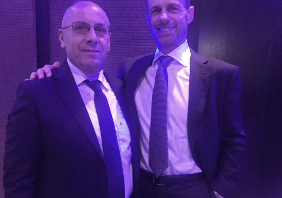 Presidenti Ademi takoi presidentin e UEFA-s, Çeferin