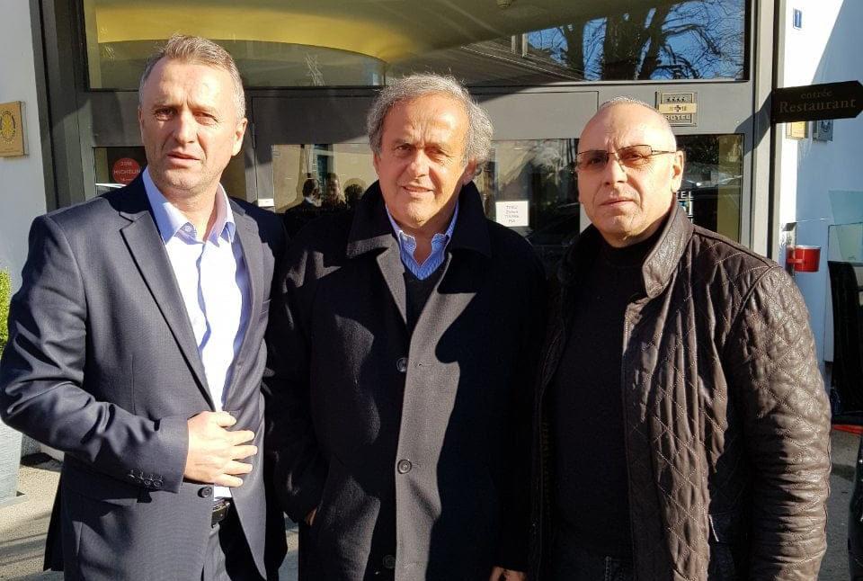 Krerët e FFK-së e takuan ish-presidentin e UEFA-s, Michel Platini