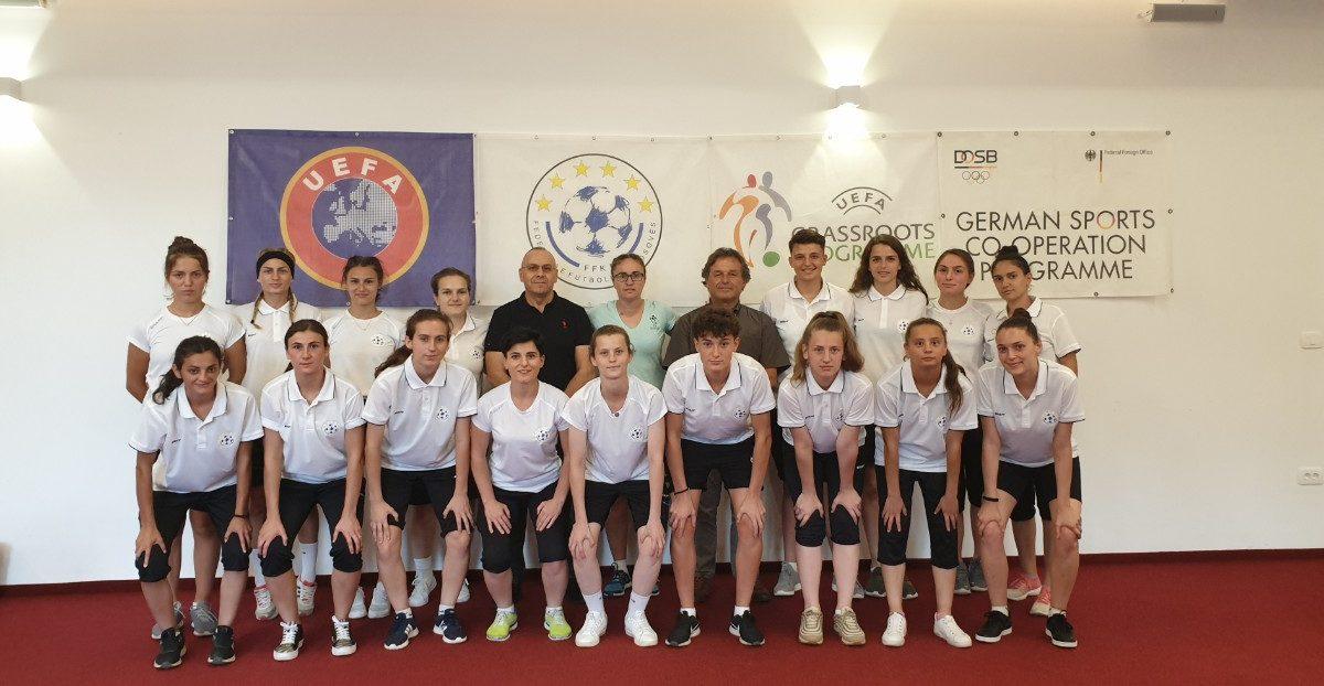 """Krerët e FFK-së vizituan vijueset e kursit """"Women's Grassroots Coaching Course"""""""