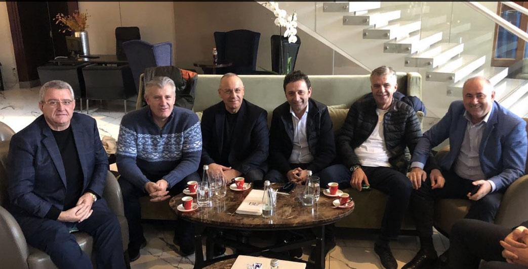 Presidenti Ademi në takimin TEP-UEFA në Bukuresht