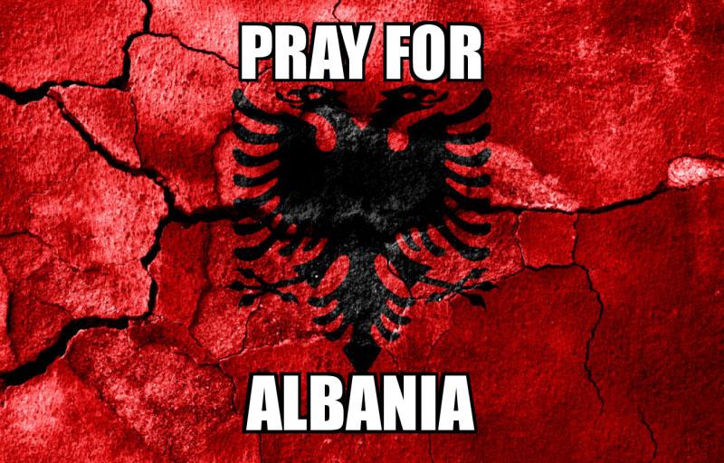 Telegram ngushëllimi dhe solidarizimi për qytetarët e Shqipërisë