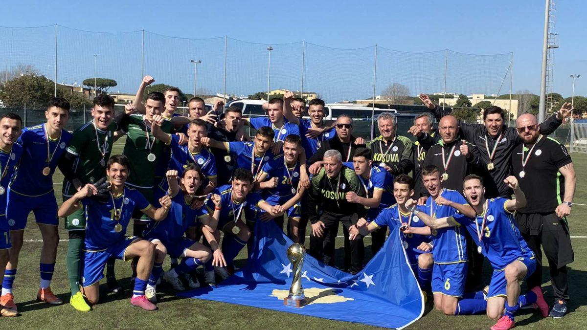 """Triumf i Kombëtares U19 në """"Roma Caput Mundi"""", në finale mundi Moldavinë"""