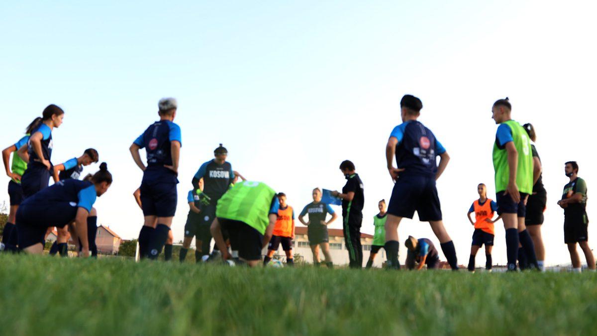 Kombëtarja e femrave me forca vendore, por me optimizëm përgatitet për ndeshjen kundër Estonisë