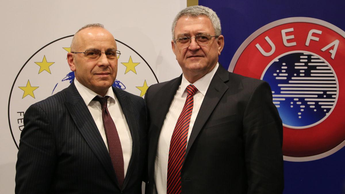 Presidenti Ademi ngushëllon presidentin e FSHF-së, Armand Duka
