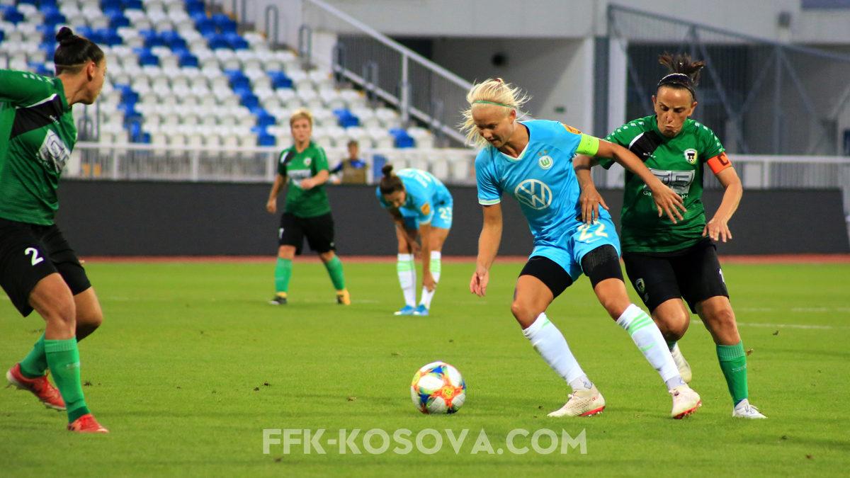 Futbollistet e Wolfsburgut të pamëshirshme ndaj Mitrovicës